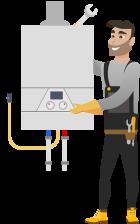 Instalarea Standard a unui cazan pe gaz de pina la 35kW