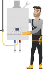 Instalarea Standard a unui cazan pe gaz cu condensare de pina la 32kW
