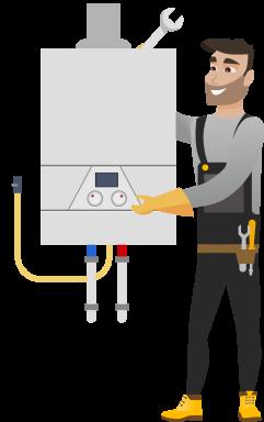 Instalarea Standard a unui cazan pe gaz cu condensare de pina la 35kW