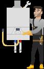 Instalarea standard a unui cazan pe gaz de pina la 24kW