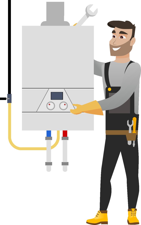 Instalarea Standard a unui cazan pe gaz de pina la 32kW