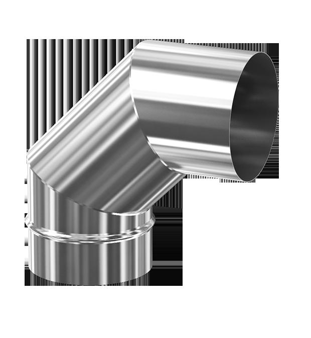 d. 120 Угол дымоходный 90° (inox 304)